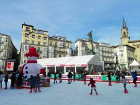 Christmas ice rink in Vitoria-Gasteiz